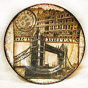 """Посуда ручной работы. Ярмарка Мастеров - ручная работа Тарелка """"Символ Лондона"""". Handmade."""