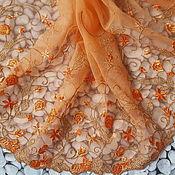Кружево ручной работы. Ярмарка Мастеров - ручная работа Кружево на сетке Апельсин 24см. Handmade.