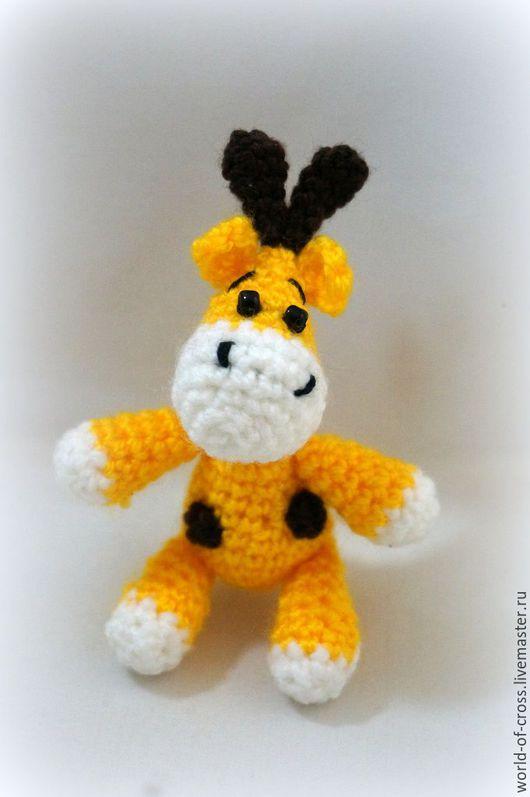 Игрушки животные, ручной работы. Ярмарка Мастеров - ручная работа. Купить Жирафик. Handmade. Желтый, жирафы, жираф вязаный
