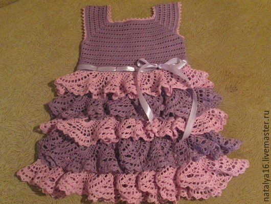 Одежда для девочек, ручной работы. Ярмарка Мастеров - ручная работа. Купить Платье с рюшами для модницы. Handmade. Комбинированный, платье с рюшами