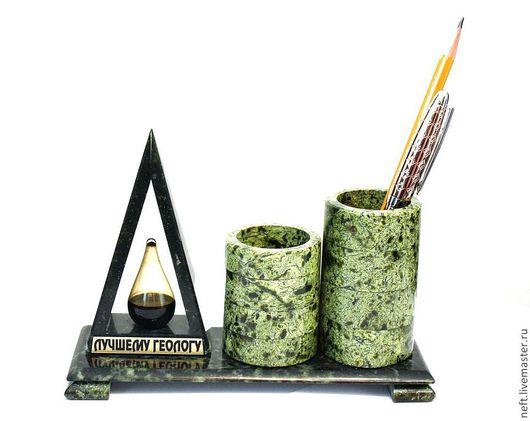 """Подарки для мужчин, ручной работы. Ярмарка Мастеров - ручная работа. Купить Карандашница """"Трубы промысла"""". Handmade. Тёмно-зелёный, капля"""