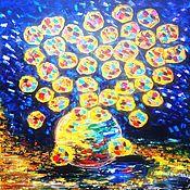 Картины и панно ручной работы. Ярмарка Мастеров - ручная работа Солнечные хризантемы. Handmade.