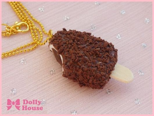 """Колье, бусы ручной работы. Ярмарка Мастеров - ручная работа. Купить Колье """"Эскимо с молочным шоколадом"""". Handmade. Dolly house"""