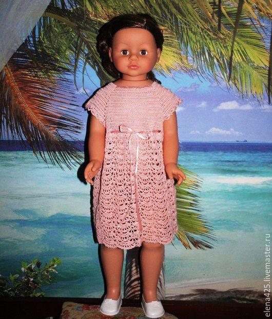 Одежда для девочек, ручной работы. Ярмарка Мастеров - ручная работа. Купить Вязанное  крючком  платье  для девочки. Handmade. Розовый, крючок