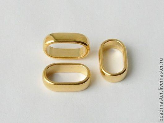 Для украшений ручной работы. Ярмарка Мастеров - ручная работа. Купить Бусина,отверстие 20х10 мм,БЖ57. Handmade. Золотой