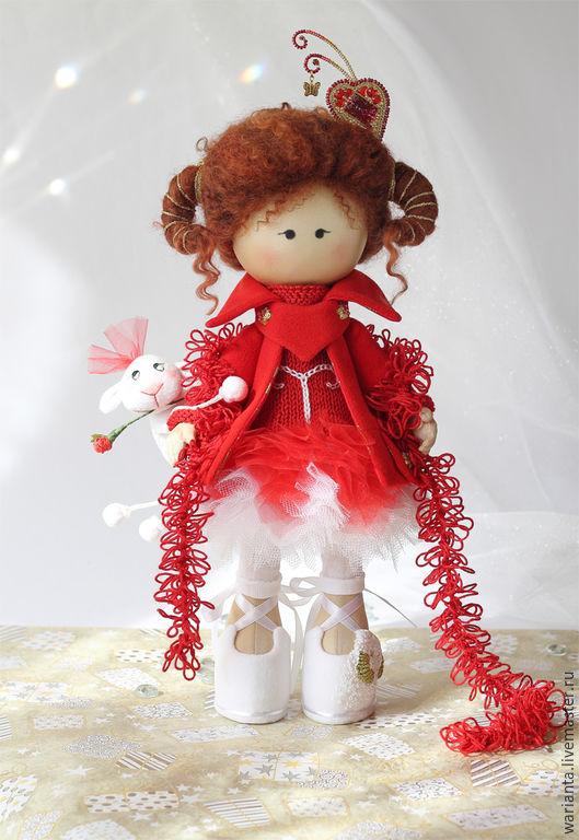 Коллекционные куклы ручной работы. Ярмарка Мастеров - ручная работа. Купить Овен. Кукла текстильная. Знаки зодиака. Ариес. Handmade.