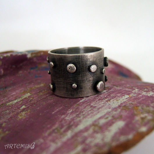 """Кольца ручной работы. Ярмарка Мастеров - ручная работа. Купить Серебряное кольцо """"Будни"""". Handmade. Серебряный, кольцо на каждый день"""