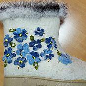 Обувь ручной работы. Ярмарка Мастеров - ручная работа Валенки авторские в единственном экземпляре. Handmade.