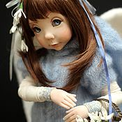 Куклы и игрушки ручной работы. Ярмарка Мастеров - ручная работа Ангел с подснежниками. Handmade.