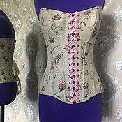 Одежда ручной работы. Ярмарка Мастеров - ручная работа Корсет с розами. Handmade.