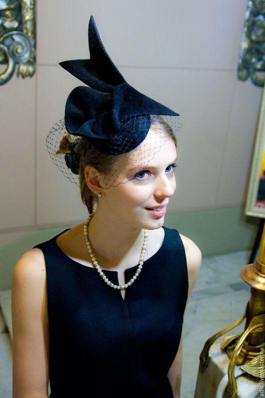 Шляпы ручной работы. Ярмарка Мастеров - ручная работа. Купить Коктейльная шляпка «птица». Handmade. Коктейльная шляпка, черная