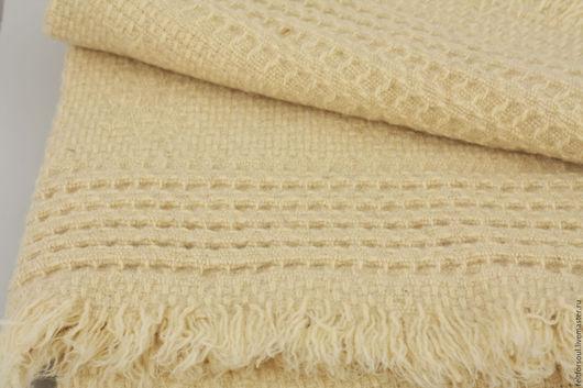 """Текстиль, ковры ручной работы. Ярмарка Мастеров - ручная работа. Купить Одеяло """"Сибирь"""" натуральная шерсть, цвет слоновая кость. Handmade."""