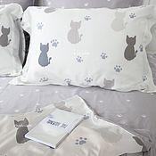 Для дома и интерьера handmade. Livemaster - original item Cats print bedding set funny bedding cat lover gift. Handmade.