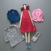 Куклы и игрушки handmade. Livemaster - original item Doll with a set of clothes Nina. Handmade.