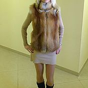 Одежда handmade. Livemaster - original item Fur vest Fox. Handmade.