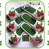 """Обувь ручной работы. Ярмарка Мастеров - ручная работа Тапочки """" Клубнички"""" на  микропоре.(авторская работа). Handmade."""