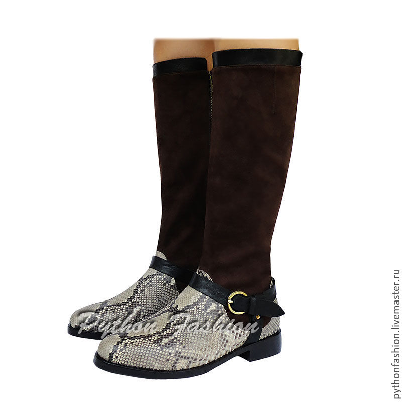 boots Python. Designer boots Python zip. Fashion Economie boots custom made. More boots handmade. Fashionable shoes from Python. Beautiful female boots made of Python