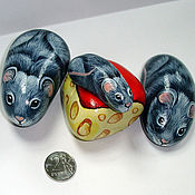 Сувениры и подарки ручной работы. Ярмарка Мастеров - ручная работа Мышки и сыр. Handmade.