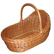Одежда детская handmade. Livemaster - original item Baby carrier cradle with handle for newborns made of willow vine, wobble. Handmade.