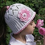 Работы для детей, handmade. Livemaster - original item Summer cap for girls