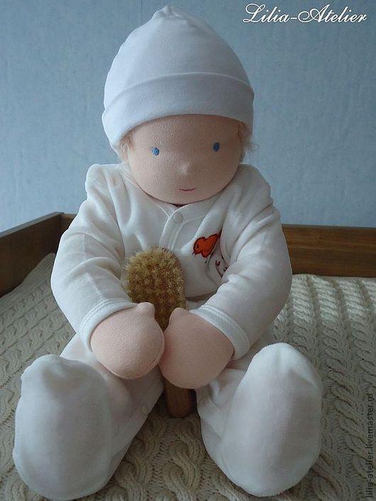 Вальдорфская игрушка ручной работы. Ярмарка Мастеров - ручная работа. Купить Младенец, текстильная кукла. Handmade. Белый, натуральные материалы
