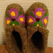 Обувь ручной работы. Ярмарка Мастеров - ручная работа Тапочки валяные из шерсти. Handmade.