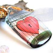 Украшения handmade. Livemaster - original item Transparent Caged Heart Earrings Red heart Love Valentine. Handmade.