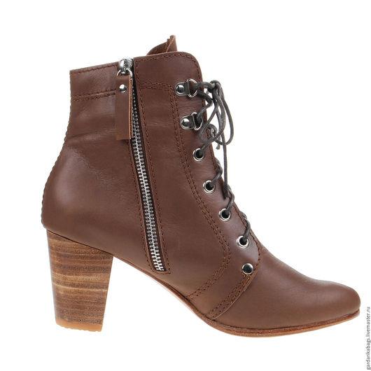 Обувь ручной работы. Ярмарка Мастеров - ручная работа. Купить Ботинки на шнуровке женские, Sale. Handmade. Коричневый, Женские ботинки