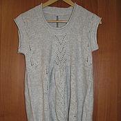 Винтаж handmade. Livemaster - original item Vintage clothing: Knitted gray flared jacket new. Handmade.
