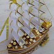 """Цветы и флористика ручной работы. Ярмарка Мастеров - ручная работа Корабль с  конфетами """"Корабль богатств"""". Handmade."""
