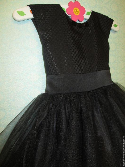 """Одежда для девочек, ручной работы. Ярмарка Мастеров - ручная работа. Купить Платье """" Чёрным по белому."""". Handmade. Черный"""