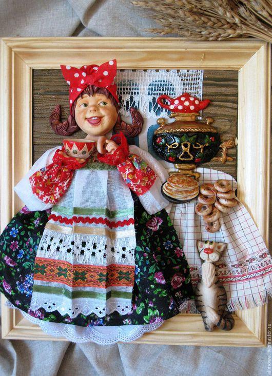 Натюрморт ручной работы. Ярмарка Мастеров - ручная работа. Купить панно для кухни Чаевница. Handmade. Панно кухня чаепитие