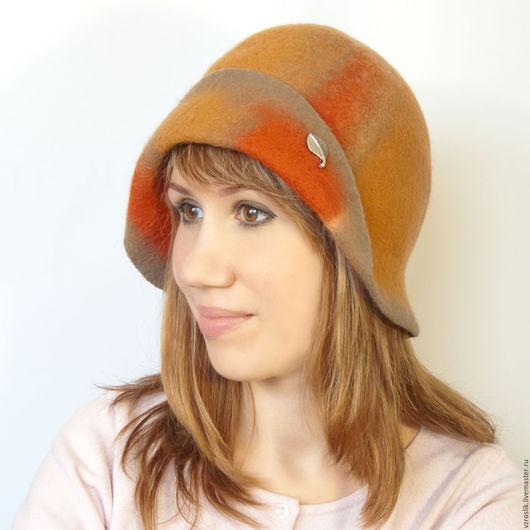 """Шляпы ручной работы. Ярмарка Мастеров - ручная работа. Купить Шляпка """"Время пряного глинтвейна"""". Handmade. Комбинированный, шляпка с полями"""