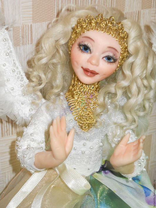 Коллекционные куклы ручной работы. Ярмарка Мастеров - ручная работа. Купить Ангел-хранитель для Елены. Handmade. Белый, кружево