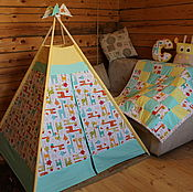 "Для дома и интерьера handmade. Livemaster - original item Wigwam for children ""Giraffes"". Handmade."