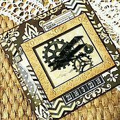 """Открытки ручной работы. Ярмарка Мастеров - ручная работа Мужская открытка """"Важные дела"""". Handmade."""