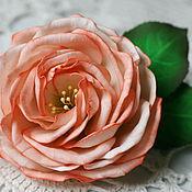 Украшения ручной работы. Ярмарка Мастеров - ручная работа Брошь Чайная роза. Handmade.