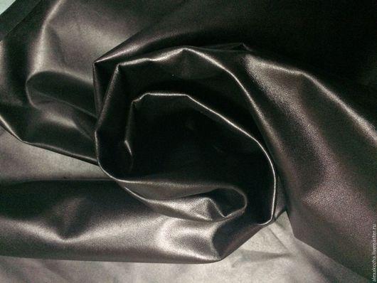 Шитье ручной работы. Ярмарка Мастеров - ручная работа. Купить Кожа натуральная Подкладка лицивая черная. Handmade. Черный