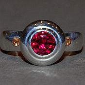 """Украшения ручной работы. Ярмарка Мастеров - ручная работа """"Клён"""" - кольцо с гранатами. Handmade."""