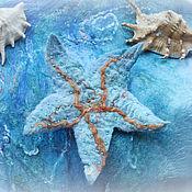 Одежда ручной работы. Ярмарка Мастеров - ручная работа Туника валяная Морская глубина. Handmade.