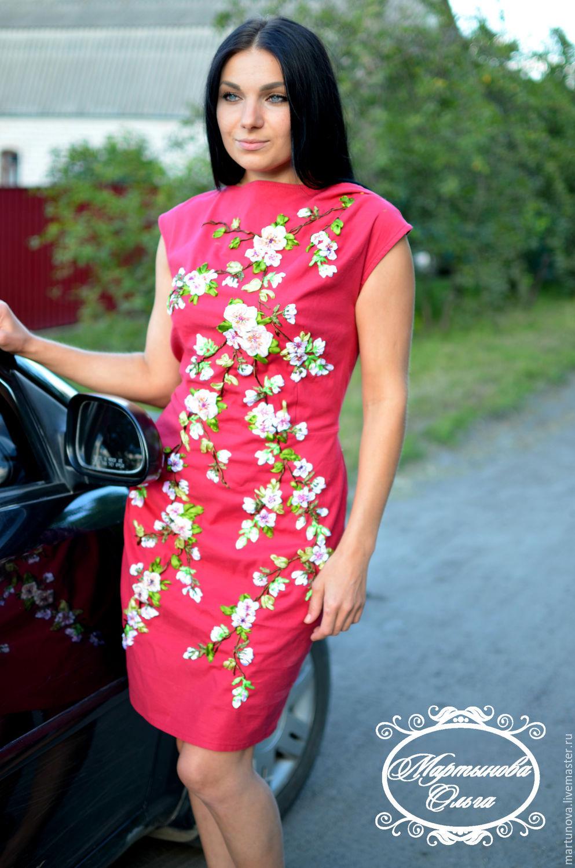 Платья ручной работы с вышивкой
