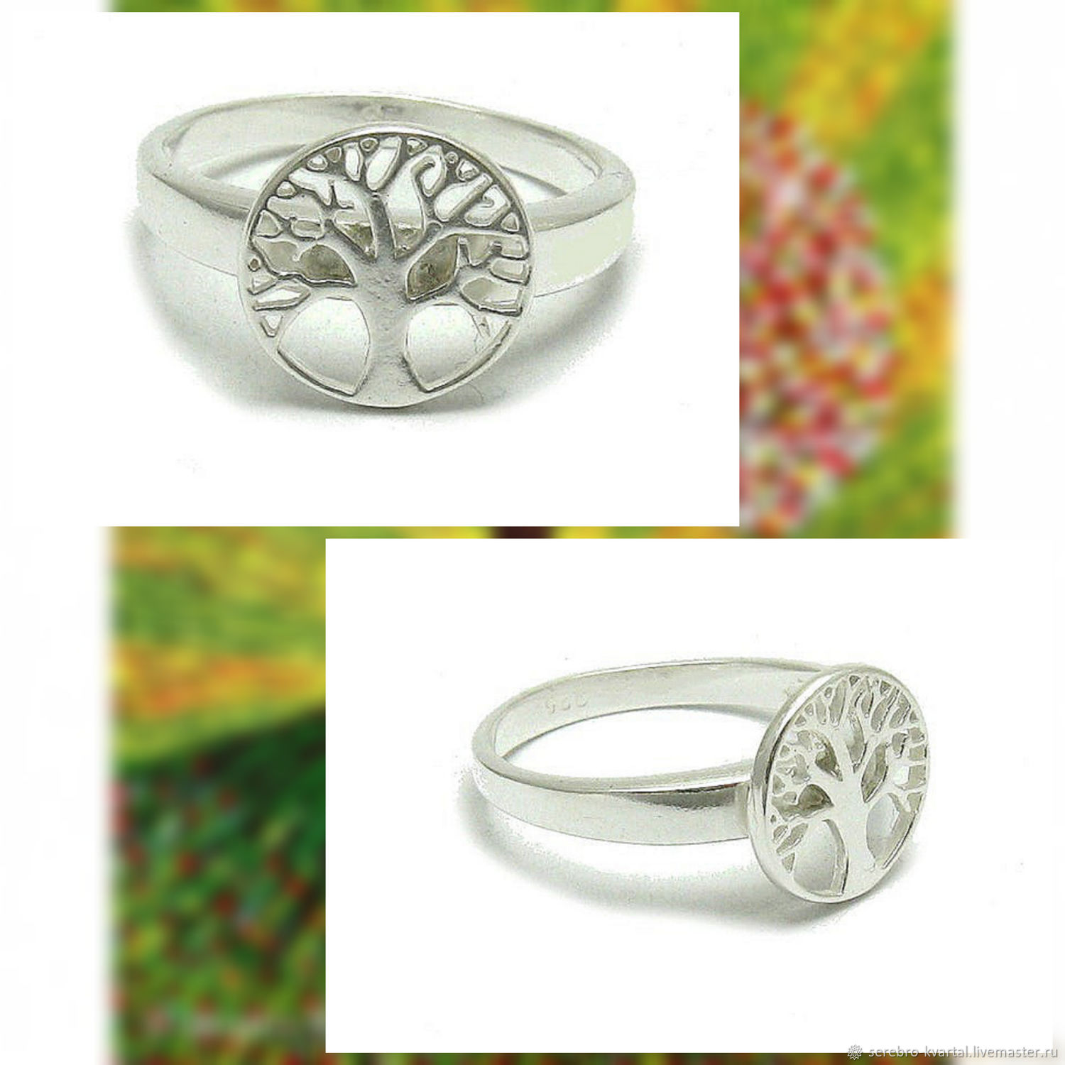 Ring Tree of Life. The ring is small. 925 sterling silver, Rings, Turin,  Фото №1