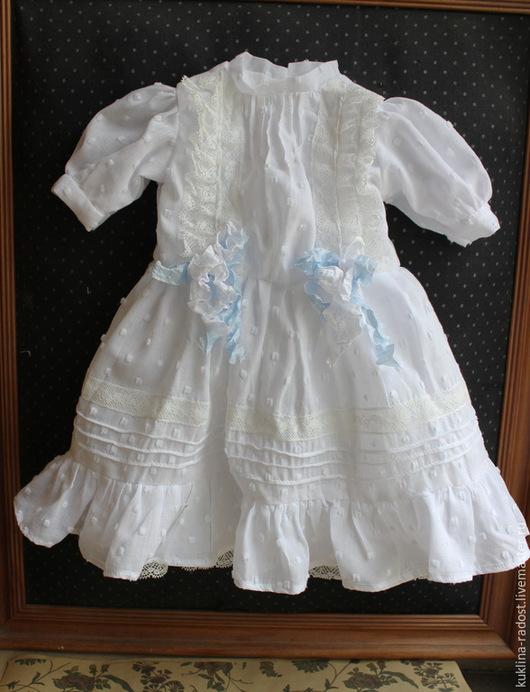 Одежда для кукол ручной работы. Ярмарка Мастеров - ручная работа. Купить Платье для антикварной куклы.. Handmade. Белый, хлопковое платье