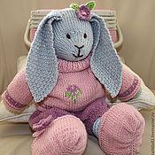 """Куклы и игрушки ручной работы. Ярмарка Мастеров - ручная работа ,,Зайка Примула"""" вязаная игрушка. Handmade."""