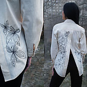 """Одежда handmade. Livemaster - original item Вышитая светлая блуза """"Сказочные бабочки"""" эксклюзив!. Handmade."""