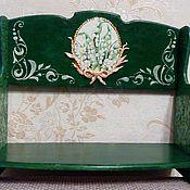 Для дома и интерьера ручной работы. Ярмарка Мастеров - ручная работа Ландыши (полочка и короб). Handmade.