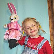 Куклы и игрушки handmade. Livemaster - original item Set glove puppet : MOLE,BUNNY,PENGUIN.. Handmade.