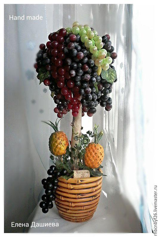 """Интерьерные слова ручной работы. Ярмарка Мастеров - ручная работа. Купить Топиарий """"Тропикано"""". Handmade. Черный, виноградник, топиарий, виноград"""