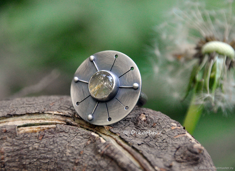 Dandelion ring (925 silver, rutile quartz), Rings, Moscow,  Фото №1