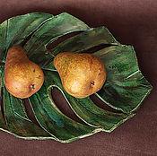 Посуда ручной работы. Ярмарка Мастеров - ручная работа Блюдо для фруктов Monstera. Handmade.